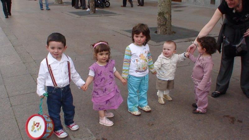 Hugo, Nadia, María, Iker y Maider